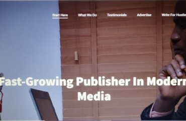 homepage of a website